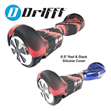 "Drifft 6.5"" Red & Black Hoverboard Silicone Jelly Case Protective Cover for Classic Self Balance Scooter"