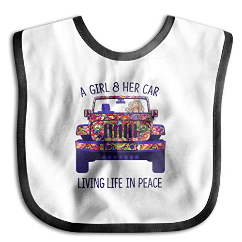 Price comparison product image A Girl And Her Car Living Lift In Peace Baby Drool Bibs Baby Skin Wrap Bib