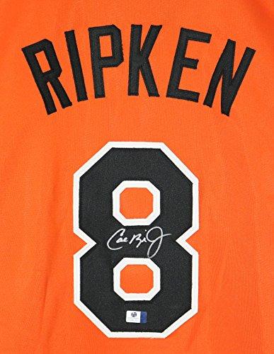 - Cal Ripken Jr. Baltimore Orioles Signed Autographed Orange #8 Custom Jersey COA