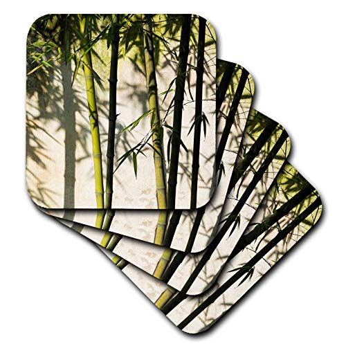 3dRose Danita Delimont - Patterns - Bamboo casting shadow on the wall in garden, Suzhou, Jiangsu, China - set of 4 Ceramic Tile Coasters - China Suzhou Jiangsu