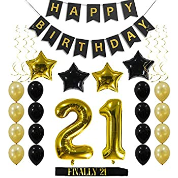 21st Birthday Decorations Party Supplies Gift For Her Him