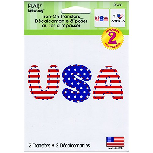 (Uptown Baby Full Color Iron-On Transfers 2/Pkg-I Heart America & Usa)