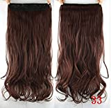 french twist hair accesory - dolly2u 60cm Synthetic Clip In Hair Extension Heat Resistant Hairpiece Natural Curly Wavy Hair Extensions#11