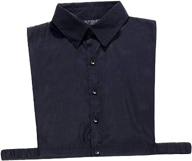 IPOTCH Cuello Falso de Algodón Collar Babero Media Camisa Desmontable Accesorios de Ropas para Mujer - Negro, talla única: Amazon.es: Ropa y accesorios