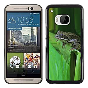 Be Good Phone Accessory // Dura Cáscara cubierta Protectora Caso Carcasa Funda de Protección para HTC One M9 // Green Toad Forest Leaf Tropical