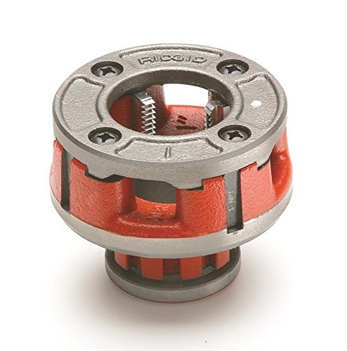 RIDGID 36900 Model OO-R Die Head, 12R Alloy Die Head comes with 1-inch High-Speed, Factory Set Dies that Deliver Clean, Precise 11-1/2 TPI (3/4 Head Die)