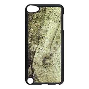 Ipod Touch 5 Cases Antislip Vintage Texture Guitar Scratches, Guitars Apple Ipod Touch 5 Case [Black]