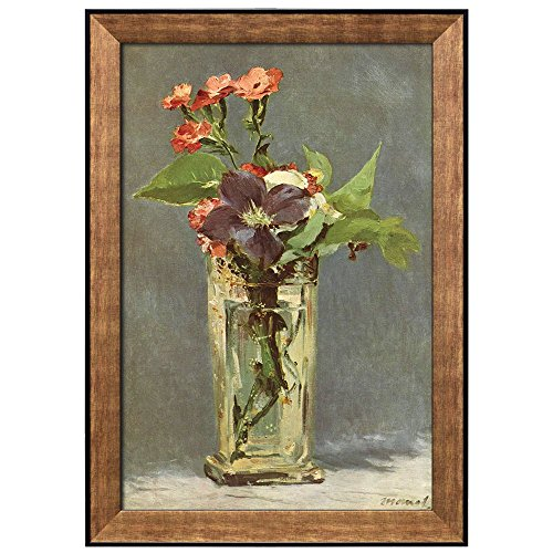 Flowers in a Crystal Vase by Edouard Manet Framed Art