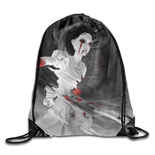 Alice Madness Returns Costume Design (Alice Madness Returns Drawstring Backpack Sack Bag)