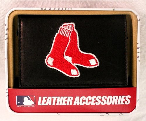 Rico Boston Red Sox Embroidered Leather Tri-Fold Wallet
