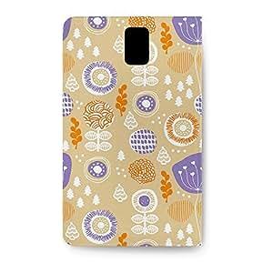 Leather Folio Phone Case For Samsung Galaxy Note 3 Leather Folio - Autumn Garden PU Leather Soft