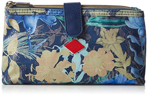 Oilily FF Double Flat Cosmetic Bag - Bolso de Mano Mujer Azul - Blau (Blueberry 546)
