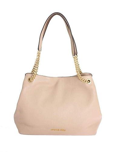 53cc62cac579 Michael Kors Women's Jet Set Item Large Shoulder Tote Leather Handbag  (Oyster)