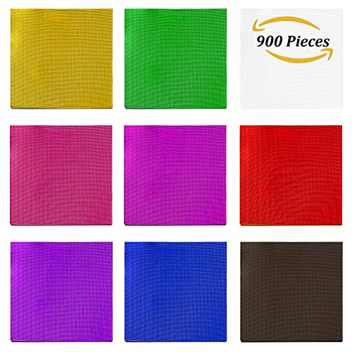 Aneco 900 Pieces 3.15 Inch Chocolate Candy Wrappers Gold Aluminium Foil Paper Wrapping Papers for Candy Packaging or Decoration - Foil Candy Wrappers