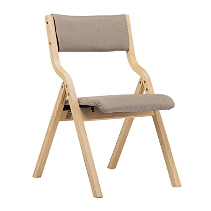 Amazon Com Solid Wood Dining Chair Folding Backrest Chairs Soft