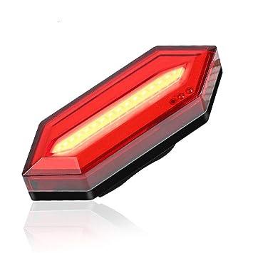 WDMBM Bicicleta Luz Trasera Impermeable USB Recargable LED Sillín ...