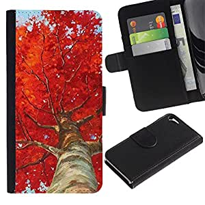 A-type Arte & diseño plástico duro Fundas Cover Cubre Hard Case Cover para Samsung Galaxy S3 (Tree Birch Red Leaves Nature)