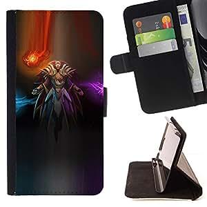 For Samsung Galaxy J3(2016) J320F J320P J320M J320Y Case , Pc Espacio Abstracto Luces Samurai- la tarjeta de Crédito Slots PU Funda de cuero Monedero caso cubierta de piel