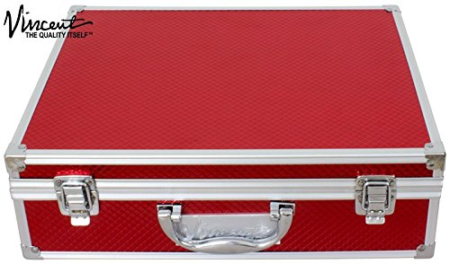 Vincent Master Case Travel Stylist Barber Case, Small, Red