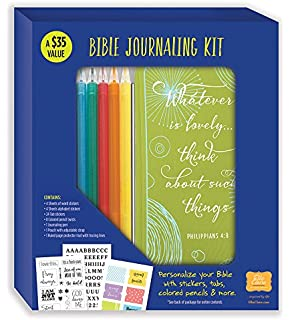Bible Journaling Kit Personalize Your With Stickers Tabs Colored Pencils More
