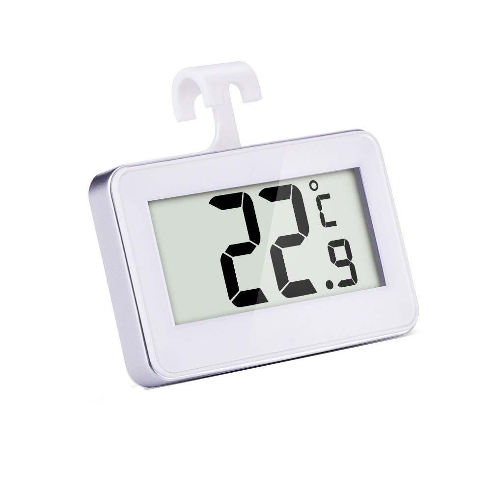 Mudder Termometro Digitale Termometro per Frigorifero/Congelatore Termometro Senza Fili, Bianca