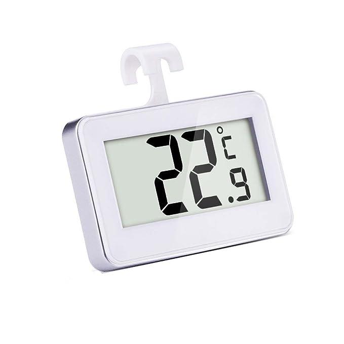 Mudder Refrigerador Digital Inalámbrico/Termómetro del Congelador,Termómetro Digital para FrigoríFicos,Termómetro Digital de Nevera y Congelador,Blanco: ...