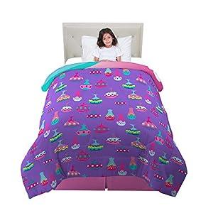 Franco Kids Bedding Super Soft Microfiber Reversible Comforter, Twin/Full Size 72″ x 86″, Trolls World Tour