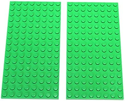 BRIGHT GREEN Lot of 2 Genuine LEGO 8x16 peg Plates 92438