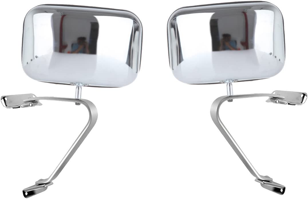 CTCAUTO Right and Left Side View Mirrors Manual Folding Compatible with 1980-1996 Ford Bronco Ford F150 Truck 1984-1990 Ford Bronco II 1980-1984 Ford F100 Truck