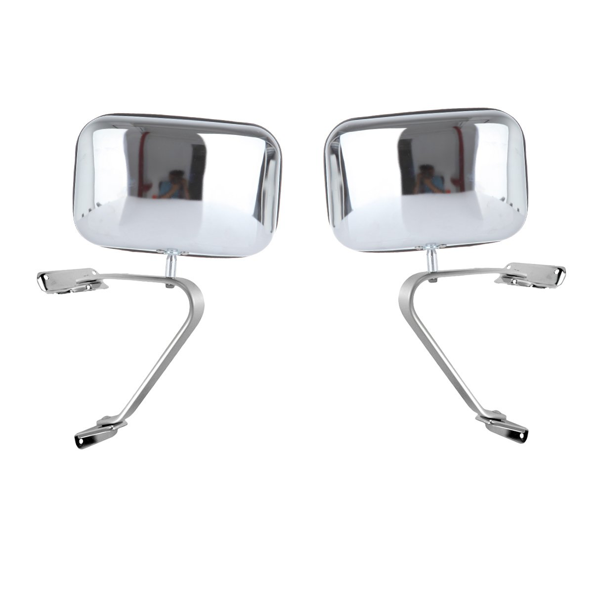 SCITOO Door Mirrors Chrome Replace Mirror Parts with Manually Operated Function fit 80-96 Ford Ranger Explorer F150 F250 F350 F450 Bronco Comes with Driver or Passenger Side Mirror