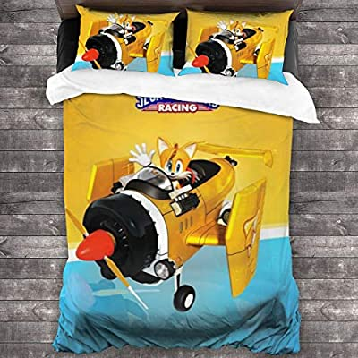 TXEWA Sleepovers with Blanket and Pillow Slumber Bag Anime Bedding Sonic The Hedgehog Twin Foldable: Home & Kitchen