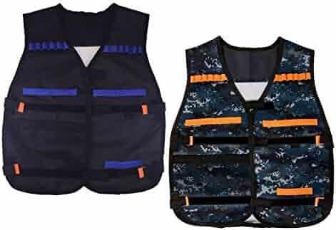 EC2BUY Tactical Vest for Nerf N-strike Elite Series (Black +camouflage )