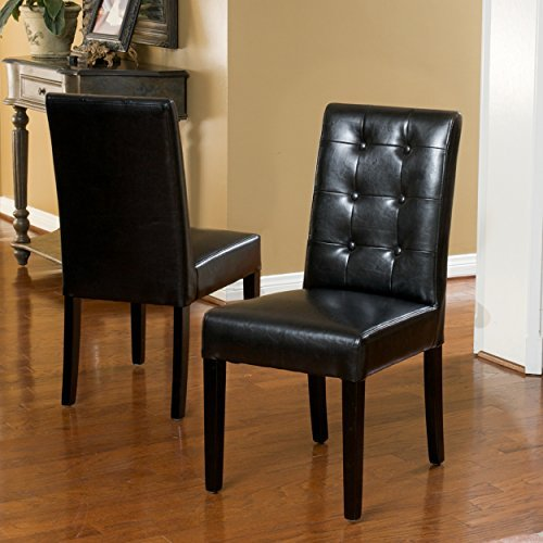 Gillian Black Leather Dining Chair