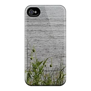 Fashion Tpu Case For Iphone 4/4s- Carnoustie Beach Sea Poppies Defender Case Cover