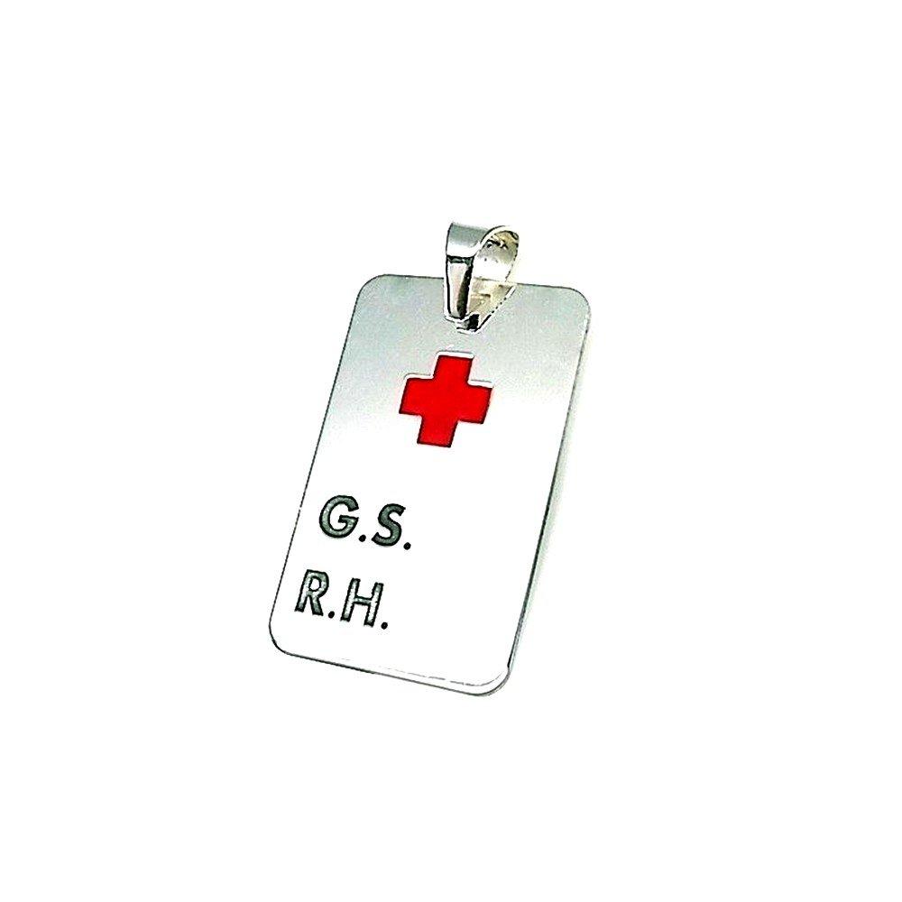 9a30fe26b7e9 Colgante plata ley 925m 33mm. chapa G.S R.H cruz roja  AA8307