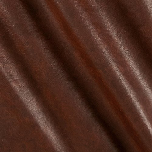 Faux Leather Buffalo Brown Print Fabric By The Yard - Fabric Brown Leather