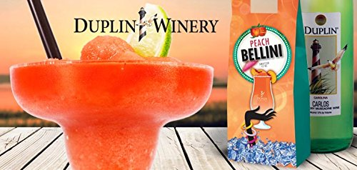Duplin Winery Peach Bellini Sweetzer Frozen Wine treat Gift Set, 1 x 750 mL