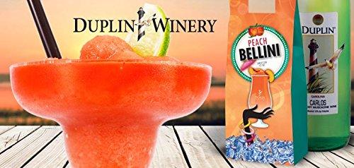 Duplin Winery Peach Bellini Sweetzer Frozen Wine treat Gift Set, 1 x 750 mL