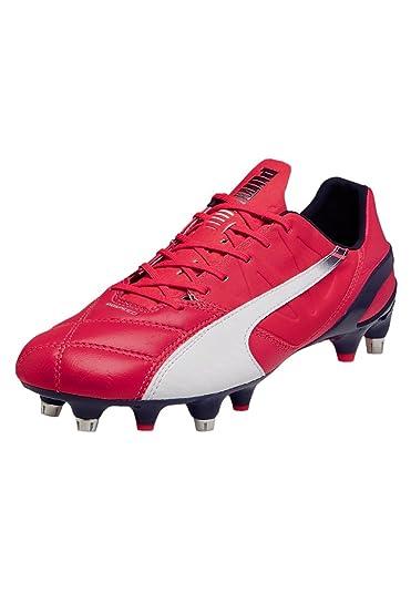 f7bbbc7757e Evospeed 1.3 Leather Mixed Sole SG Football Boots - Bright Plasma White  Peacoat -