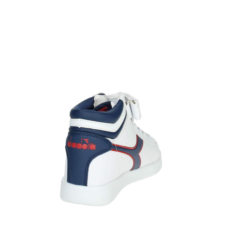 Diadora 173763 Scarpe Junior Game Hi PS C7628 BiancoBlu,28