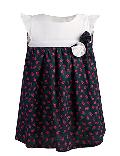 Dillards Dresses For Kids (Abaosisters Girls Floral Dress Rose Printed Empire Waist Frock 3-8 Year Old Pink 6-7 yrs)