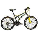 Benotto Bicicleta Fireback FS MTB Acero R24 21V Hombre Sunrace Frenos V