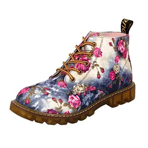 Kvinner Blonder Damene Combat Vintage Sonnena Kvinners Retro 1 Størrelse Støvler Uk Funky Boot Gotisk Ankelen Martin dqExw8f