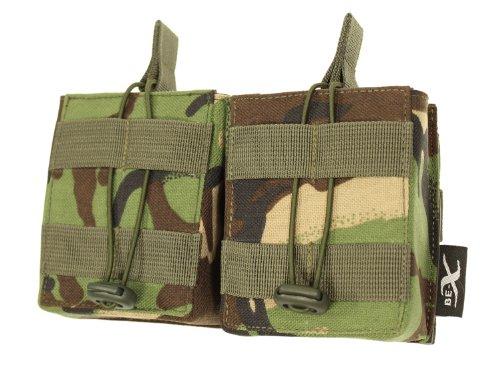 BE-X Open Mag Pouch / Magazintasche -Double- für HK 417, MOLLE - woodland DPM