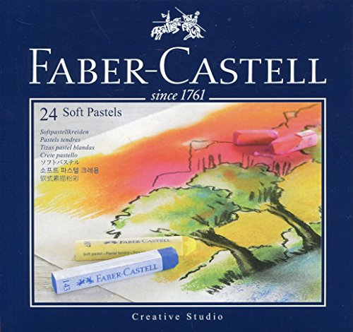 Faber-Castell 128324 Goldfaber Studio Soft Pastel Chalks Pack of 24 Assorted Colours by ToyMarket by Faber Castell