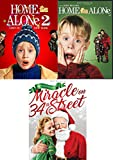 Kids of Christmas Home Alone Story Double Feature 1 & 2 DVD + The Original Miracle on 34th Street Movie Holiday 3-Pack
