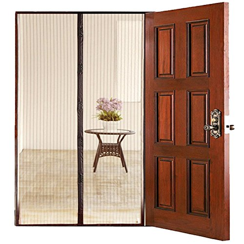 Homee magnetic mesh screen door for french doors garage for Best screen doors for french doors