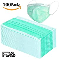 Generic Disposable Earloop Face Mask-Dental, Surgical, Medical, Allergy, Pollen, Antiviral, Flue, Cleaning, Painting, Mouth, Cover, 100 Pieces