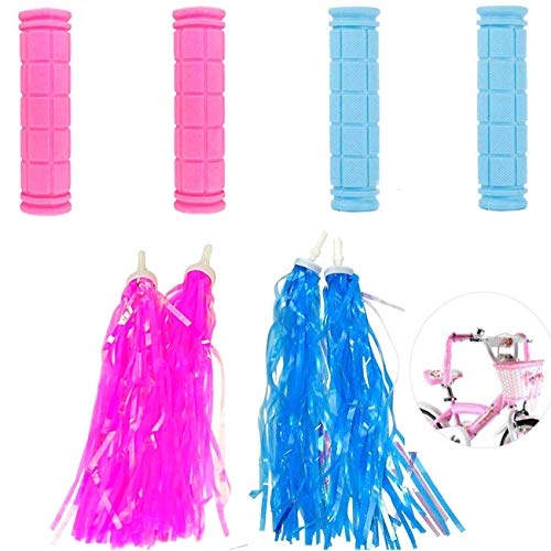Diriway Kids Bicycle Bike Handlebar and Streamers for Girls Boys, Bicycle Tassel Ribbons for Kids Bike Decorations, Baby Carrier Accessories Children's Day Gift