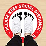 5 Pcs Social Distancing Floor Decals, Safety
